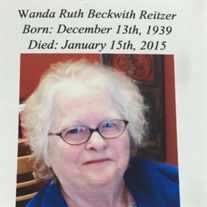 WANDA RUTH REITZER